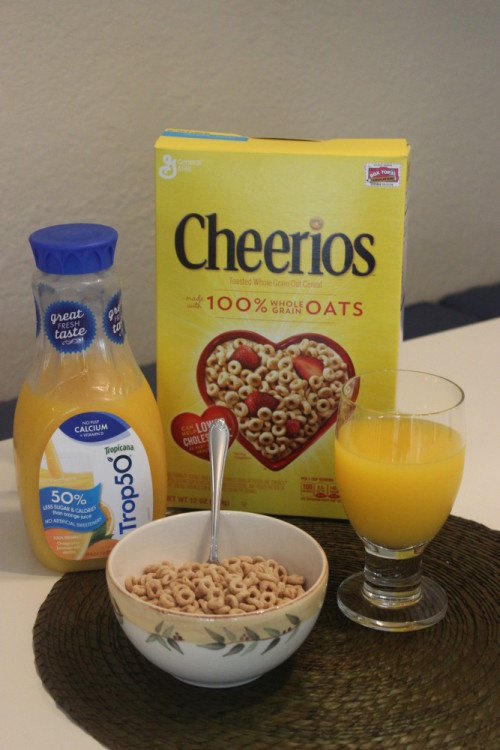 #BetterBreakfast with #Cheerios and 100% Florida Orange Juice