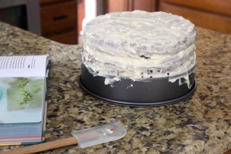 Carrot Cake with Lemon Cream Cheese Icing #SundaySupper