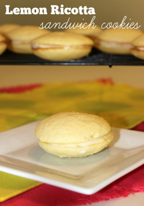 Lemon Ricotta Sandwich Cookies #leftoversclub