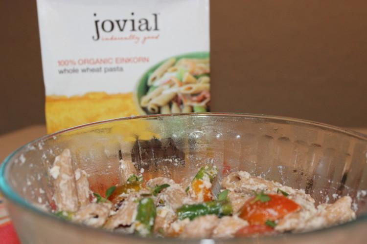 Lemon Ricotta Spring Pasta Salad