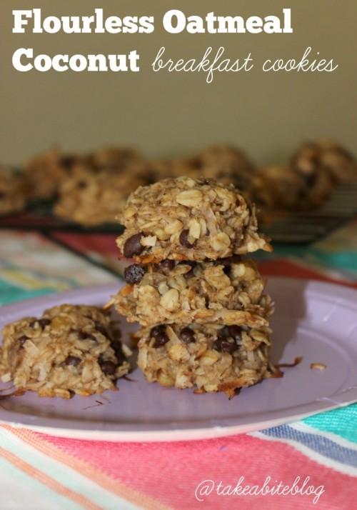 Flourless Oatmeal Coconut Breakfast Cookies #Brunchweek