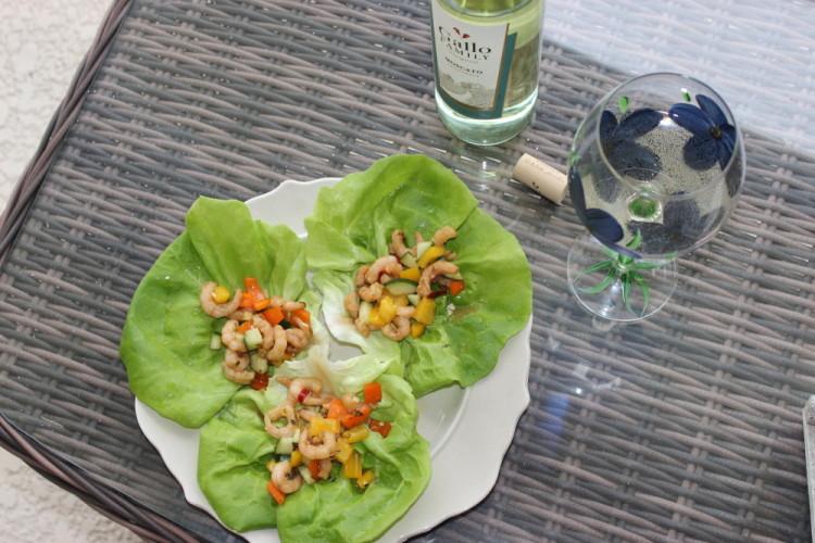 Spicy Shrimp Lettuce Wraps #SundaySupper