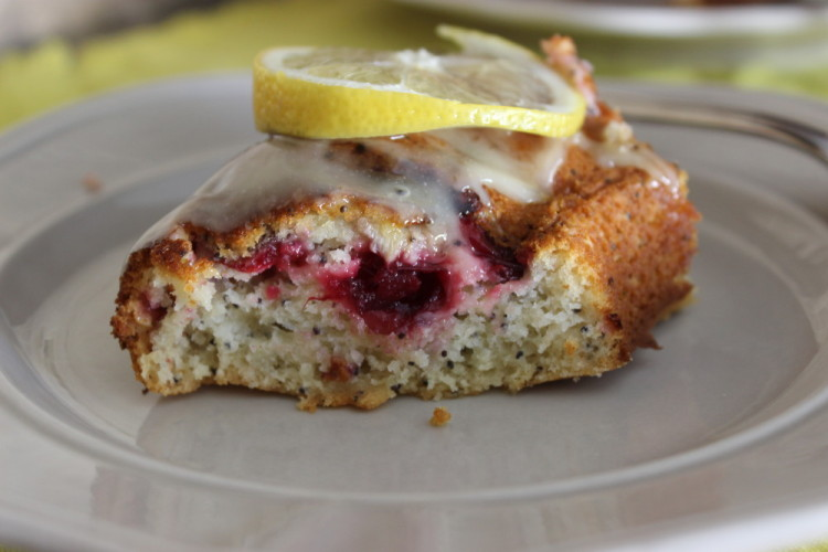 Lemon-Cranberry Poppyseed Bundt Cake #BundtBakers