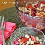 Three Bean and Tomato Salad with Mustard-Dill Vinaigrette