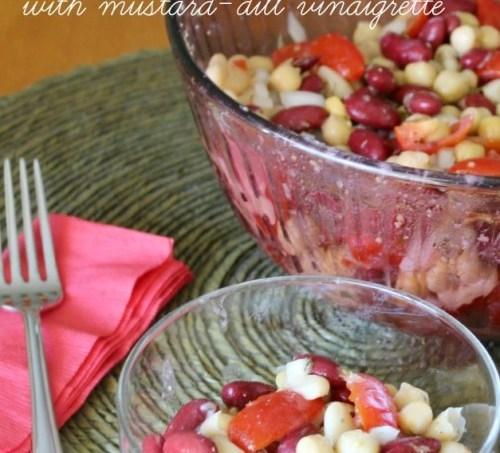 Three Bean and Tomato Salad with Mustard-Dill Vinaigrette