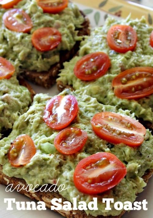 Avocado Tuna Salad Toast #OnlyAlbacore