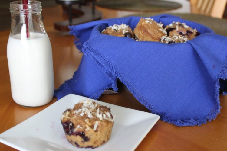 Blueberry Coconut Muffins #SundaySupper #JuneDairyMonth