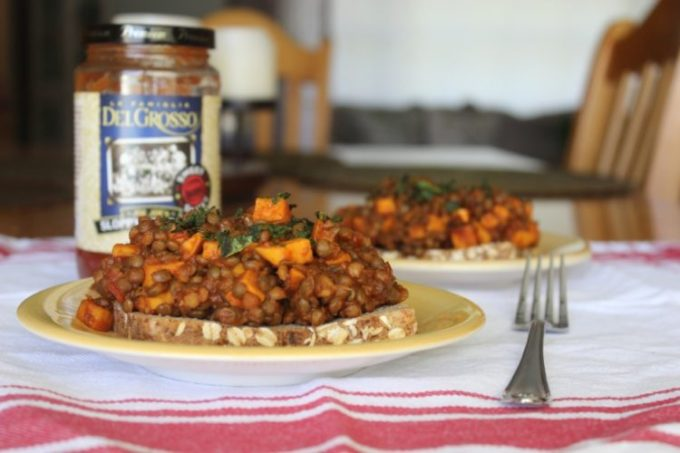 Vegetarian Lentil and Sweet Potato Sloppy Joes