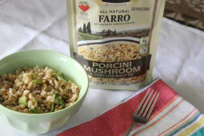 Farro Risotto with Porcini Mushroom and Bok Choy
