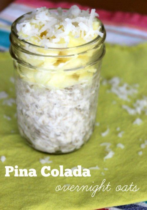 Pina Colada Overnight Oats #SundaySupper
