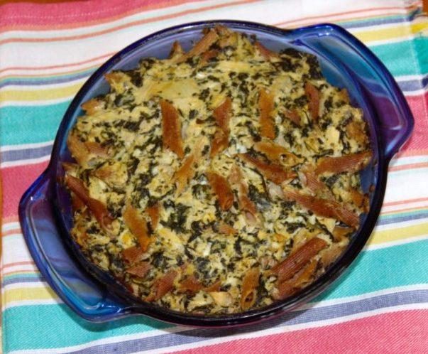 Spinach and Artichoke Parmesan Pasta Bake