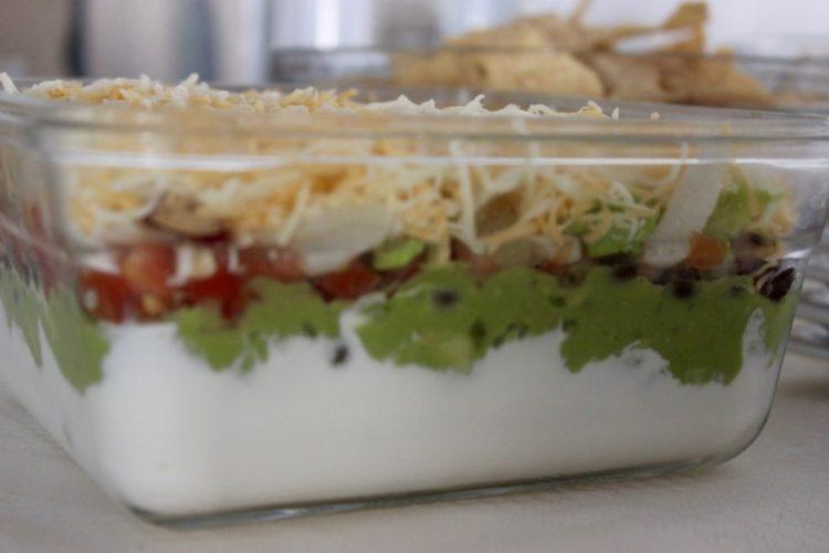 Six Layer Vegetarian Taco Dip #StonyfieldBlogger #OrganicMoments