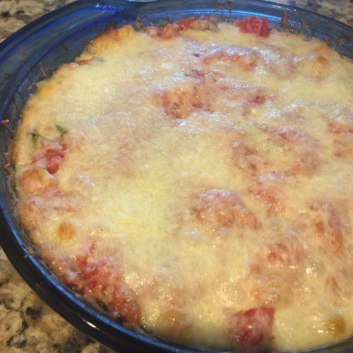 Cheesy Spaghetti Squash Veggie Casserole