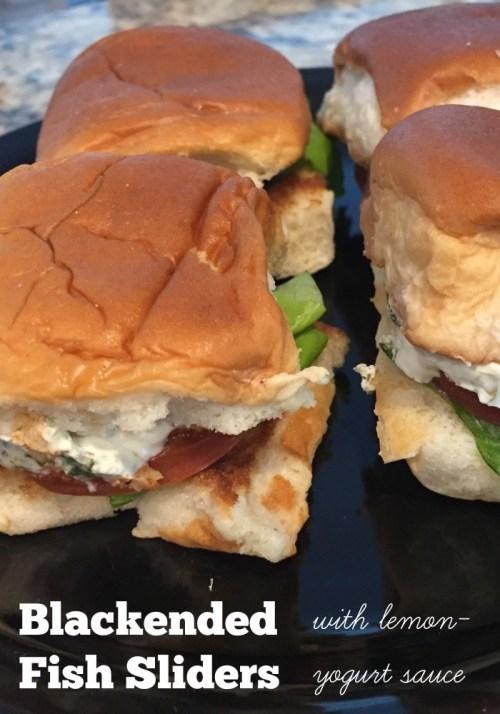 Blackened Fish Sliders with Lemon-Yogurt Sauce