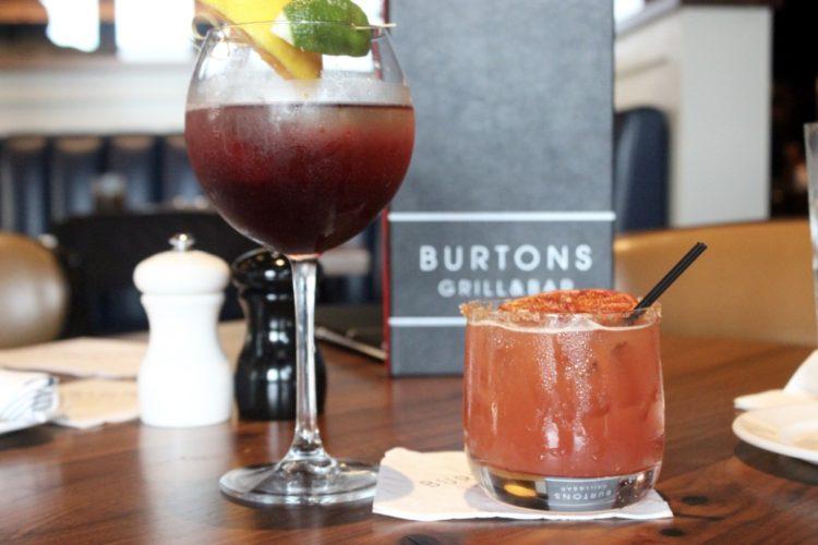 Burton's Grill and Bar, Sanjito and Blood Moon Rising Cocktails
