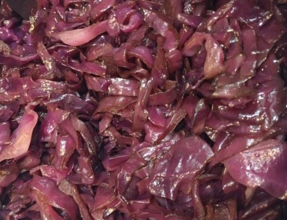 Balsamic Braised Red Cabbage