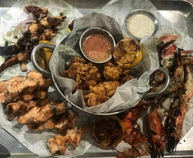 Oliv Pit Boca Raton, Seafood Platter