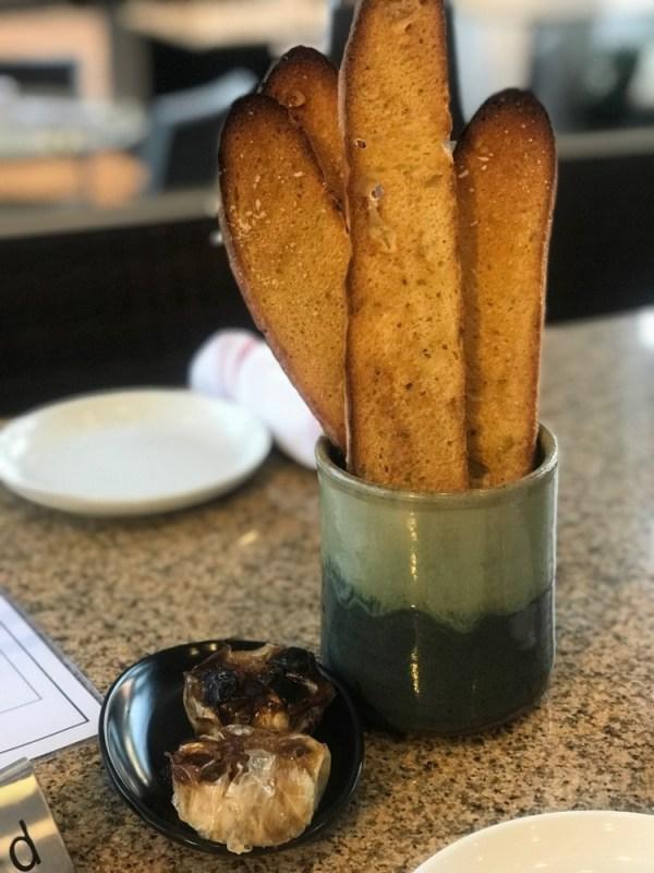 Prezzo Boca Raton, Roasted Garlic and Breadsticks