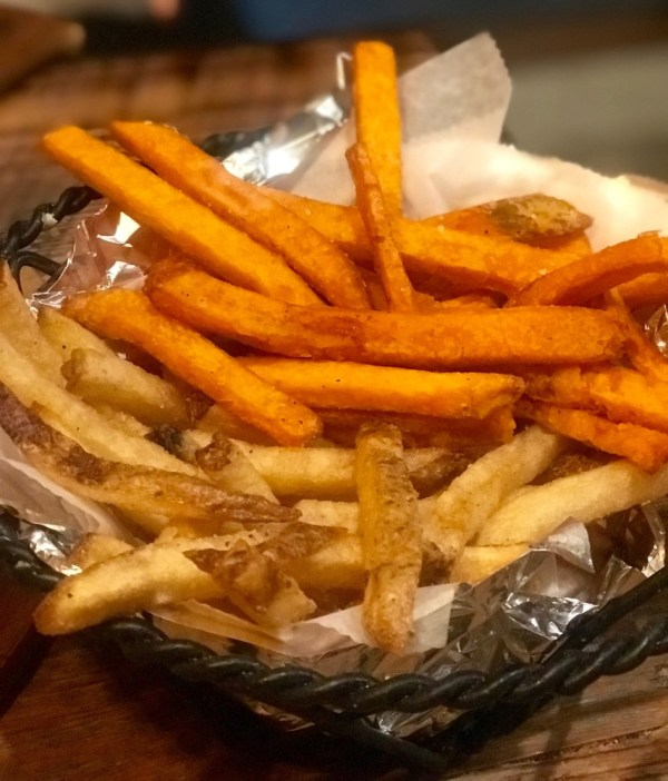 New River Pizza & Fresh Kitchen Fort Lauderdale, French Fries and Sweet Potato Fries