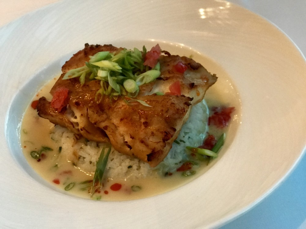 Boca Landing at the Waterstone Resort & Marina, Boca Restaurant Month Menu, Roasted Alaskan Halibut