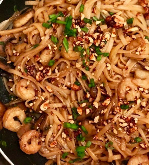 Gluten-Free Spicy Shrimp Pad Thai