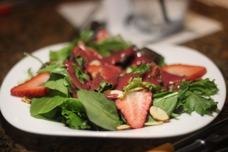 The Melting Pot Boca Raton, Strawberry Almond Salad