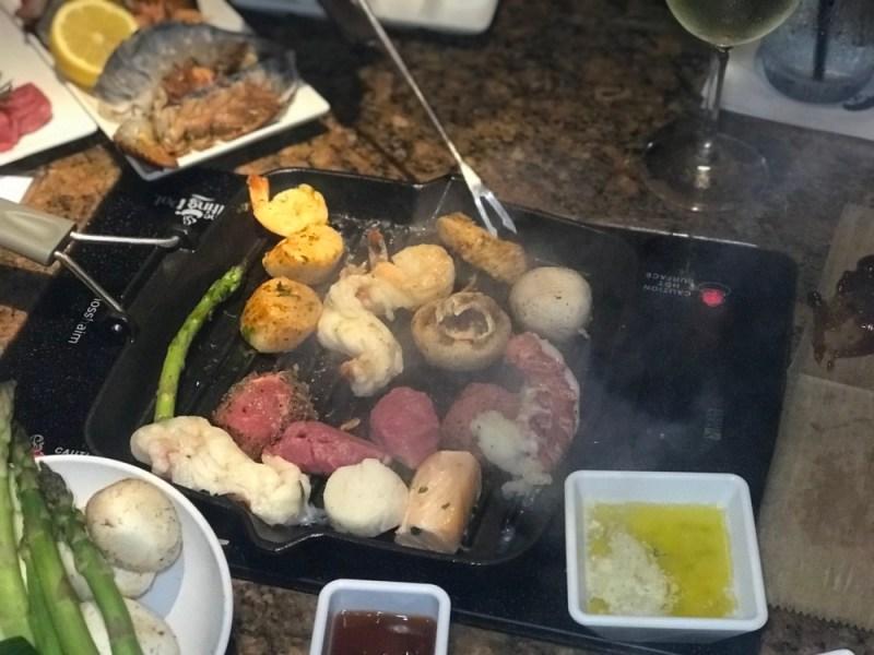 The Melting Pot Boca Raton, Grilling