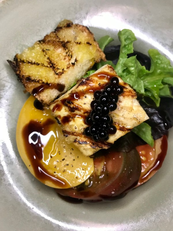 Galley at Hilton West Palm Beach, Grilled Tofu and Tomato Salad