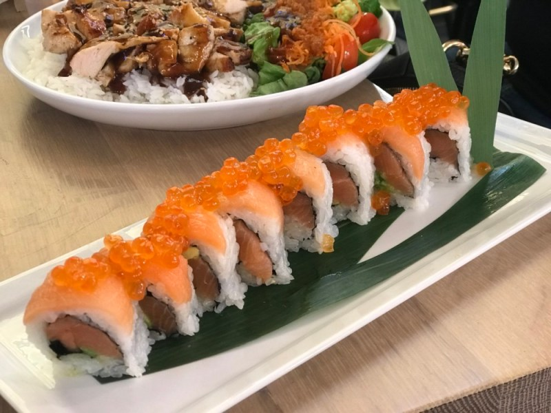 SushiMaki at Whole Foods Boca Raton, Salmon Sushi Roll