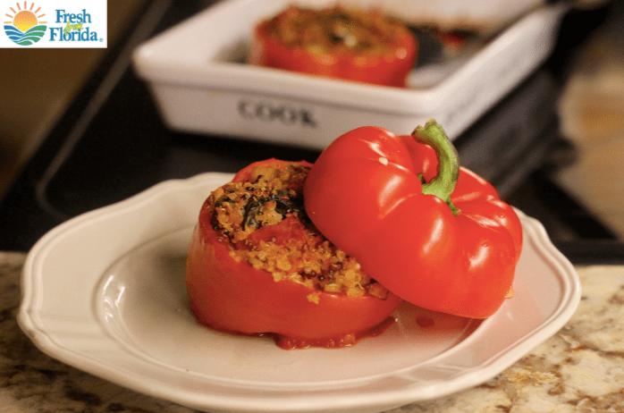 Recipe for Gluten-Free Vegetarian Quinoa-Stuffed Peppers