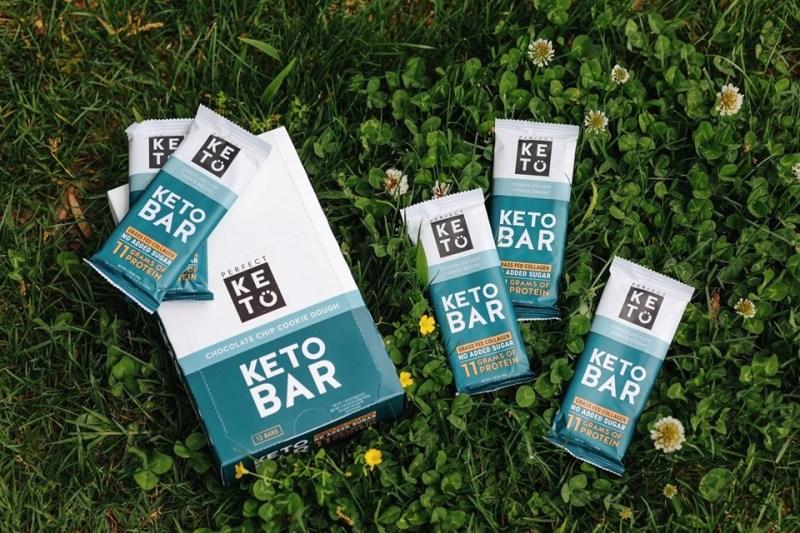 Perfect Keto Chocolate Chip Cookie Dough Keto Bar
