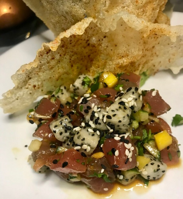 Trophy Room Wellington, Yellowfin Tuna Tartare