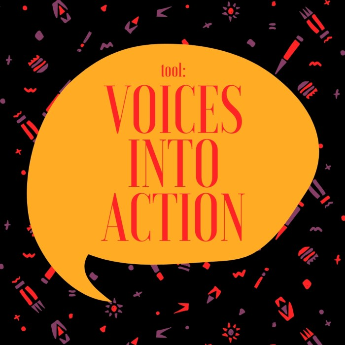 TOOL: Voices into Action