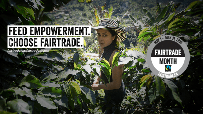 EVENT: Fairtrade Month, May 2018