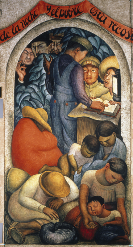 Night of the Poor, Diego Rivera (1928)