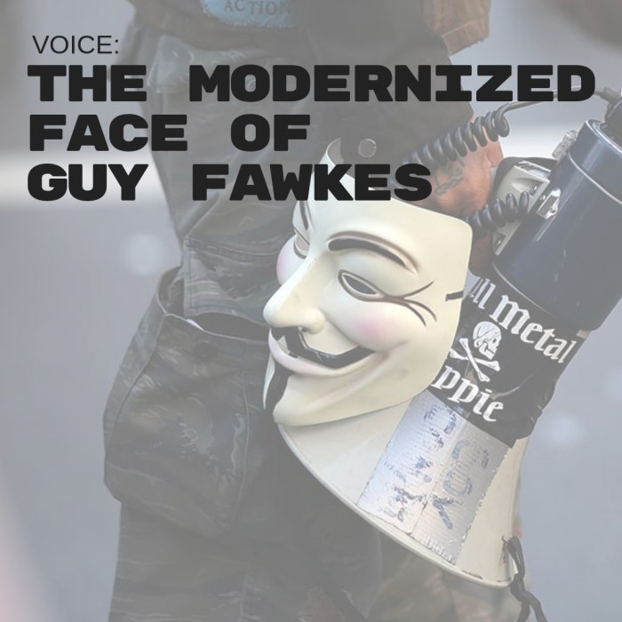 VOICE: The Modernized Face of Guy Fawkes