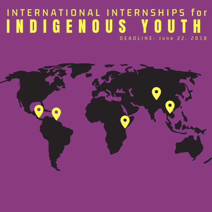 OPPORTUNITY: International Internships for Indigenous Youth