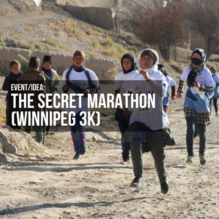 EVENT/IDEA: The Secret Marathon (Winnipeg 3K)