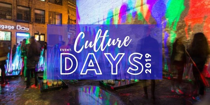 EVENT: Culture Days 2019