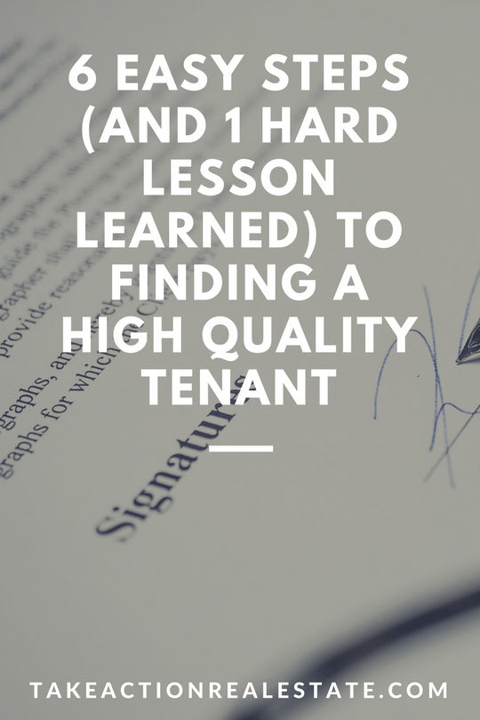 finding high quality tenants