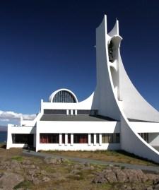 The futuristic Stykkisholmskirkja