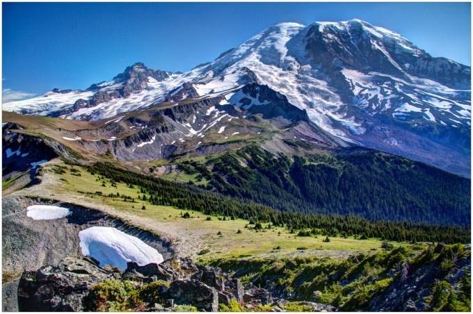 Mount Rainier from Skyscraper Peak