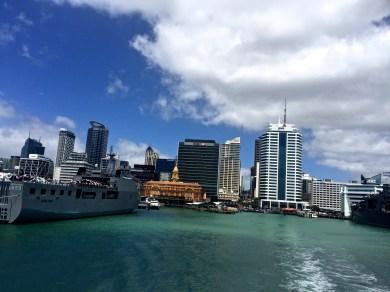 Taking the 30 min ferry over to Waiheke