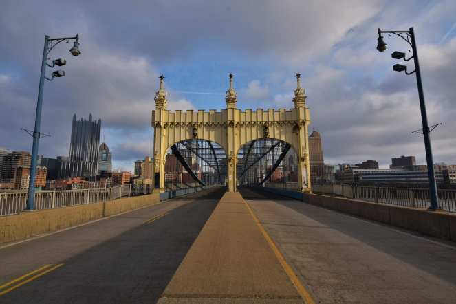 Smithfield St Bridge Pittsburgh color