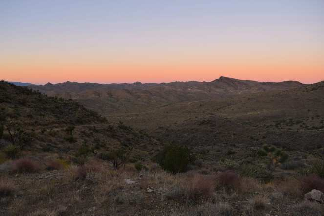 desert California mountain sunrise