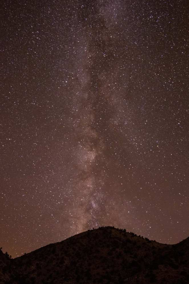 Milky Way mountain California desert Mojave