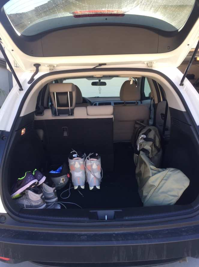 Packing snowboarding gear into the HR-V