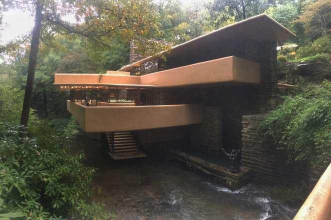 Fallingwater house designed by Frank Lloyd Wright