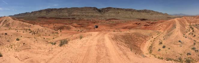 Jeep off road park at logandale trails features plentiful orange and red rocks