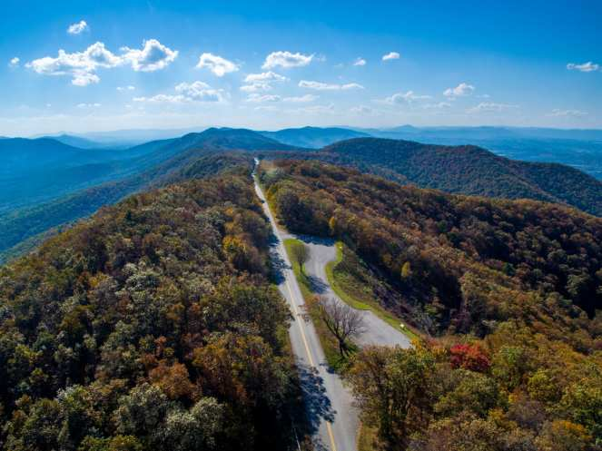 Drone Shot of the Blue Ridge Parkway
